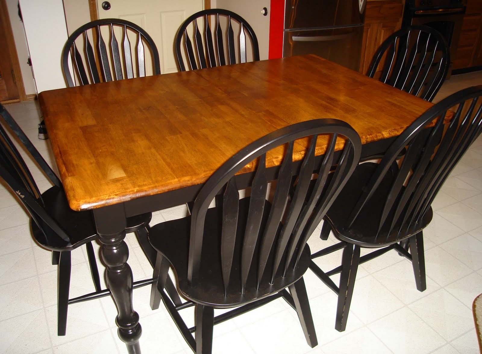 Better together refinishing a kitchen table part 2 - Refinishing a kitchen table ...