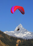 paragliding in nepal.