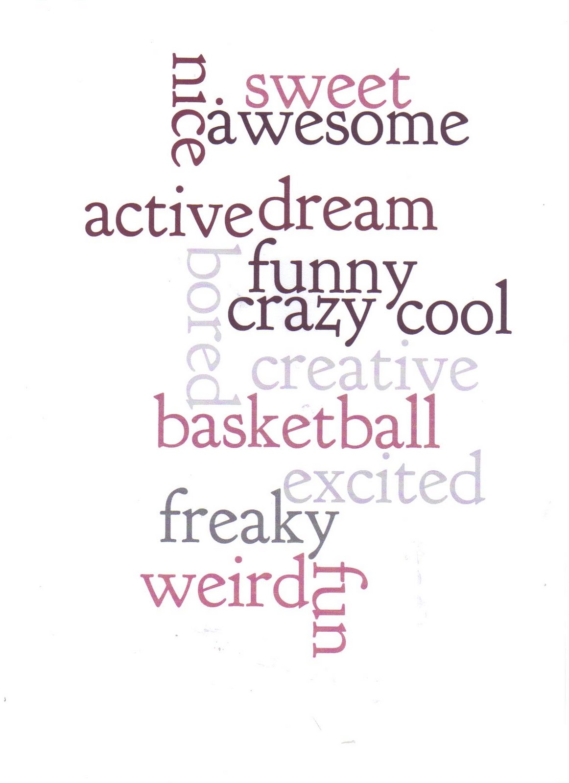 hello words that describe me words that describe me