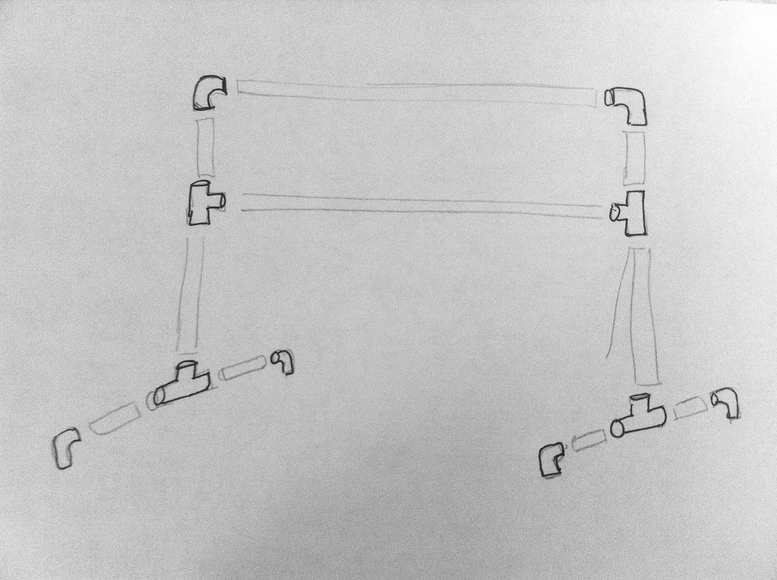 My sketch of approximate layout of double barre