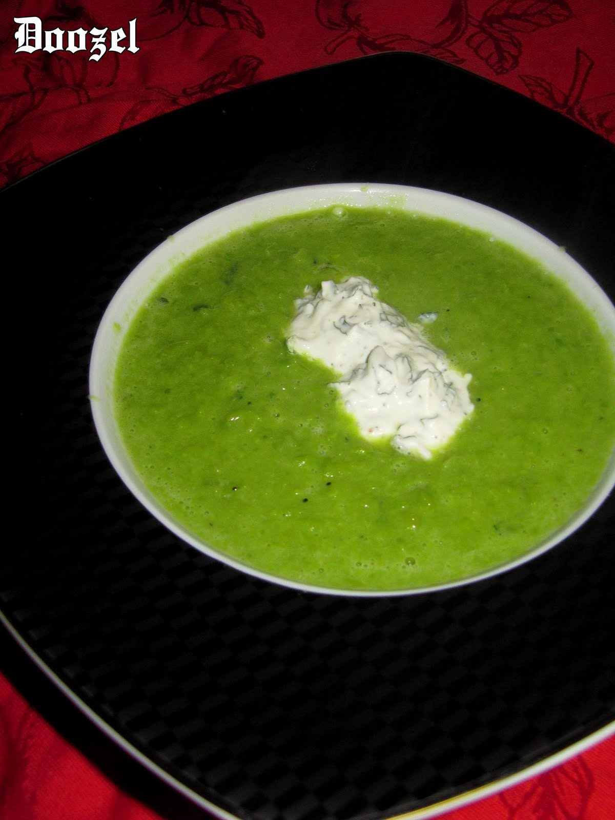 cafe: Reader's request; case 4: puree of grean pea soup with mint ...