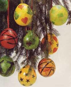 Le palline-palloncini per l'albero di Natale