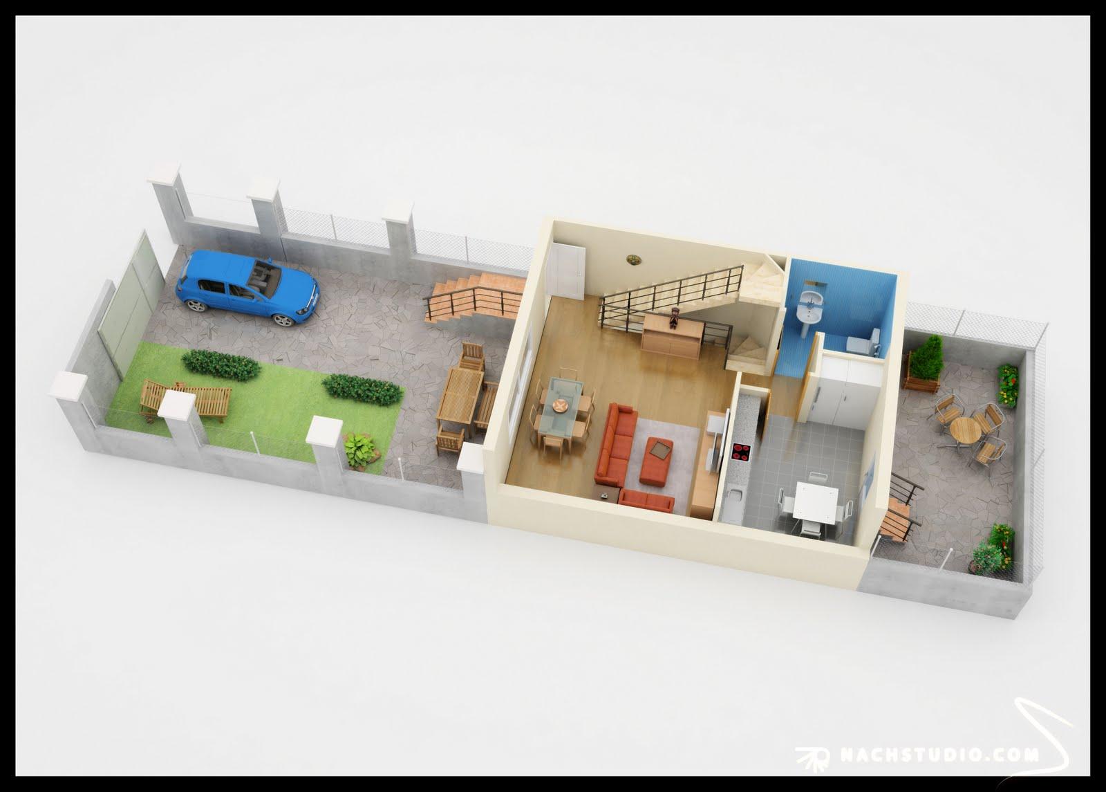 Nachstudio plantas en 3d infografia para zaragoza for Infografia 3d