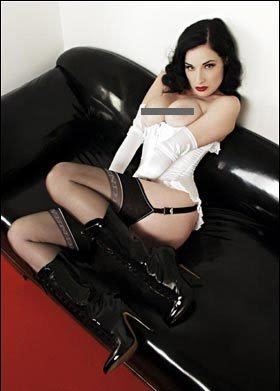 Dita Von Teese German Playboy pics