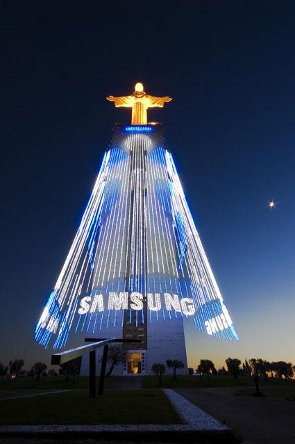 Cristo-Rei, Iluminações de Natal, Almada 2008