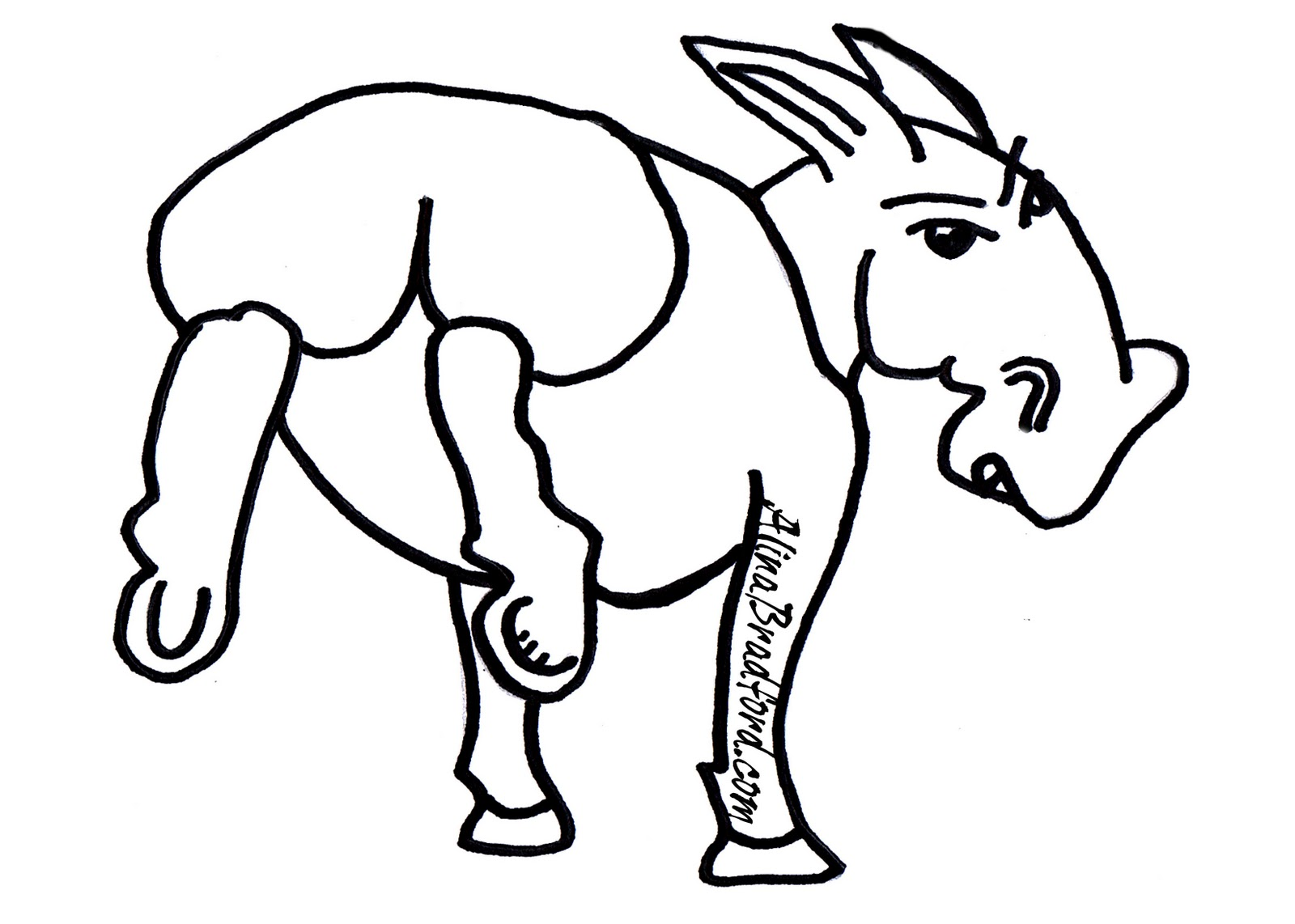 honkey donkey coloring pages - photo#15