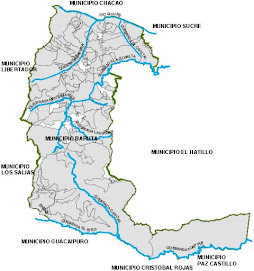 Mapa del Municipio Baruta