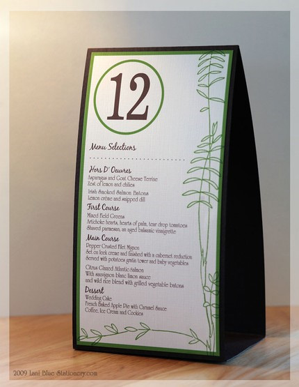 At last wedding event design unique table numbers names for Table 9 menu