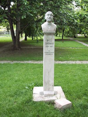 Ludwig Lazarus Zamenhof, Eliezer Samenhof, Zamenhoff, statue, denkmal, szobor, Budapest, Hungary,  Ungarn,  eszperanto, esperanto