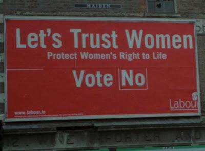 vote no, abortusz, abortion, Eire, Ireland, Labour Party
