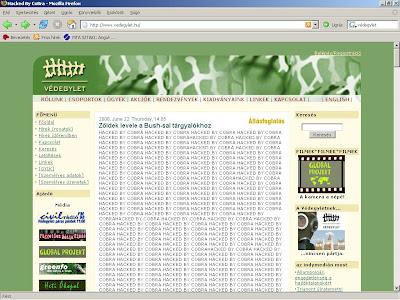 Védegylet, Hacker, hack, meghackelt, feltörés, behatolás, honlap, homepage