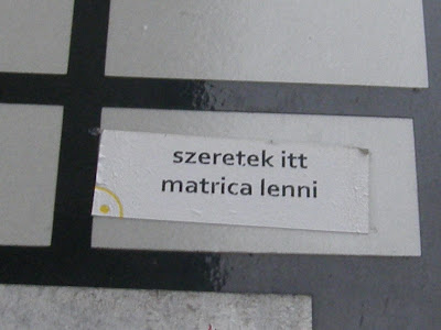 XIII. kerület, Budapest, Visegrádi utca, Újlipótváros, matrica,  vicces, funny