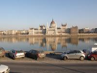 parkolás, Budapest, Duna, Parlament, Országháza, folyó