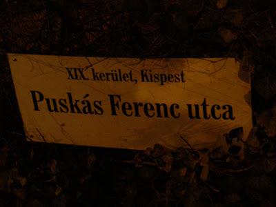 Puskás Ferenc utca, Kispest, XIX. kerület, foci, magyar, Ferenc Puskas strasse, street, Real Madrid, football, Budapest