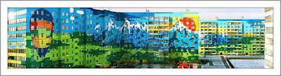 lakótelep, Moszkva, Oroszország, panel, paneltelep, graffiti, Russia