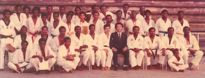 FLASH BACK TO 1981: Master Gwak Ki-Ok, national instructor of Ghana Taekwondo Asso in Nigeria