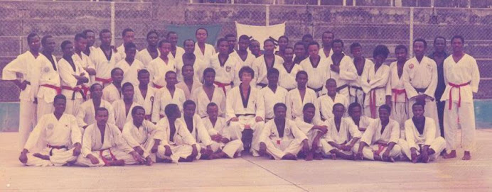 FLASH BACK TO 1987: Members of Nigeria Taekwondo Black Belt College