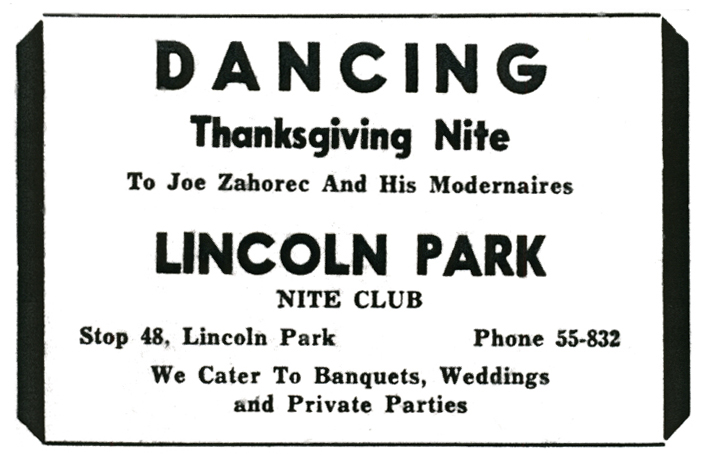 1955 than going dancing on Thanksgiving – especially to the music of