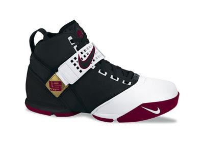 lebron james shoes v black red