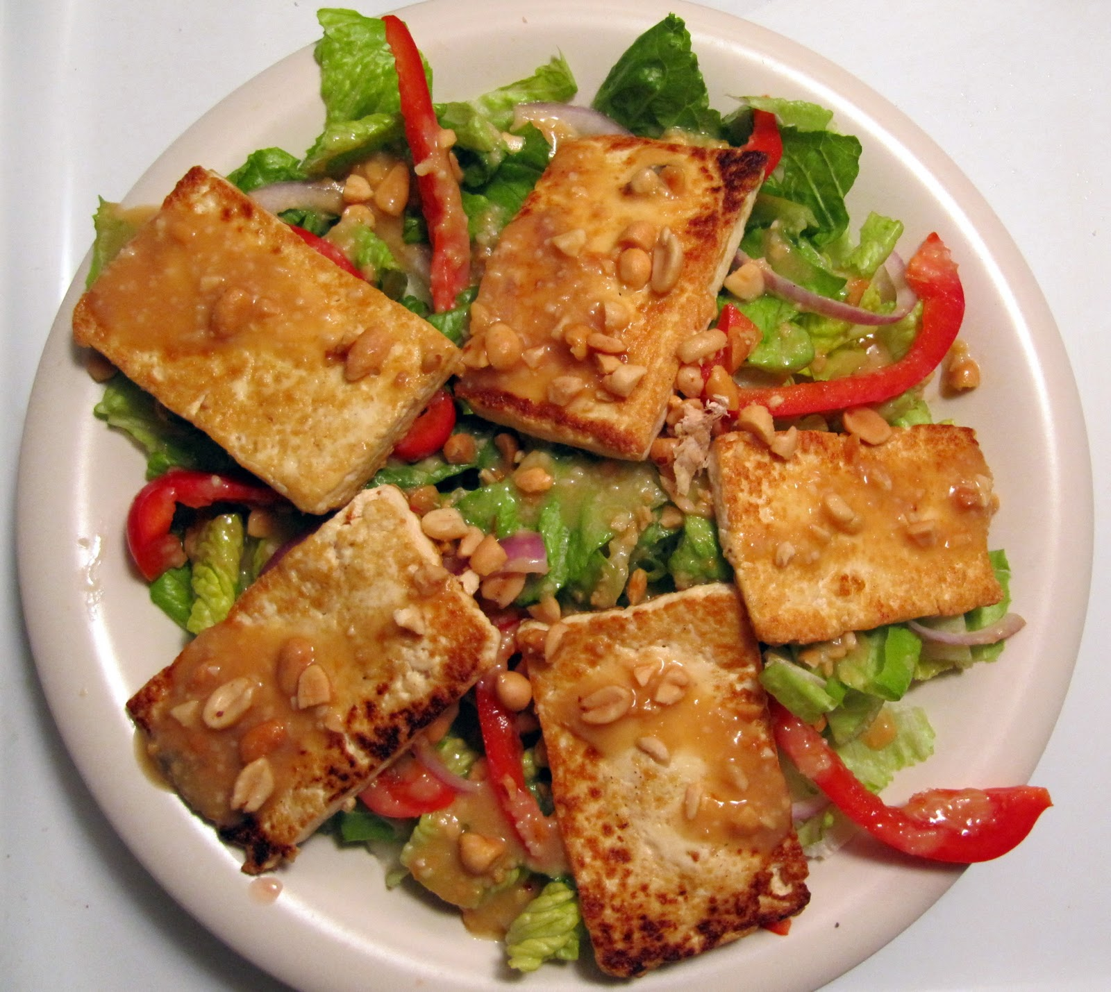 Grad Gastronomy: Seared tofu salad with miso-ginger dressing