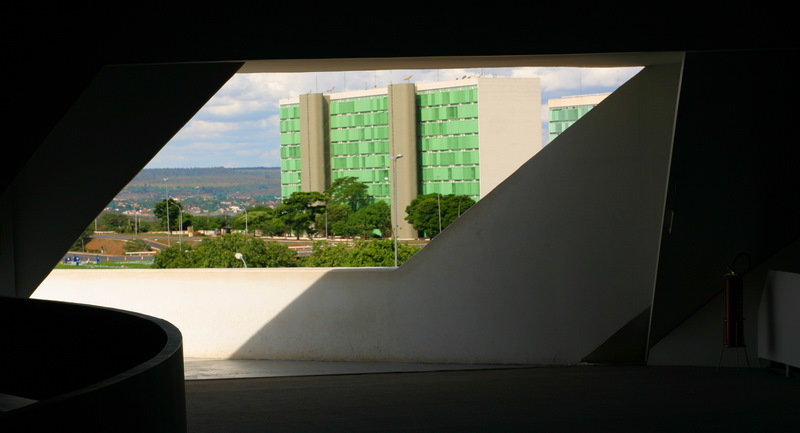 Brasilia : Ministries from the National Museum, Esplanada dos Ministérios visto do Museu Nacional da República, Oscar Niemeyer