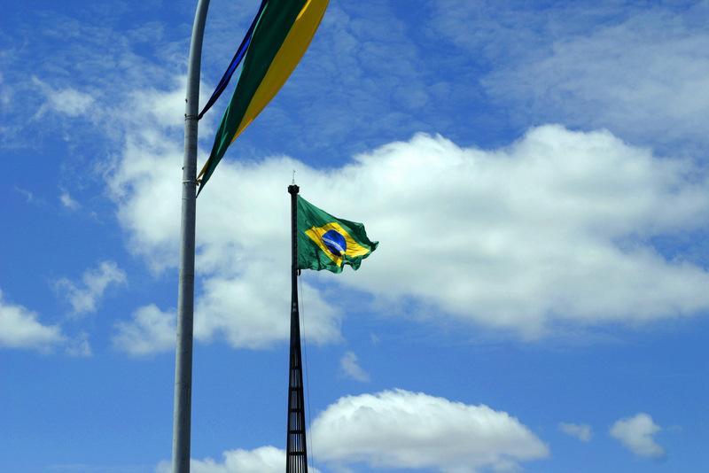 Brazilian flag in Brasilia, Brasília