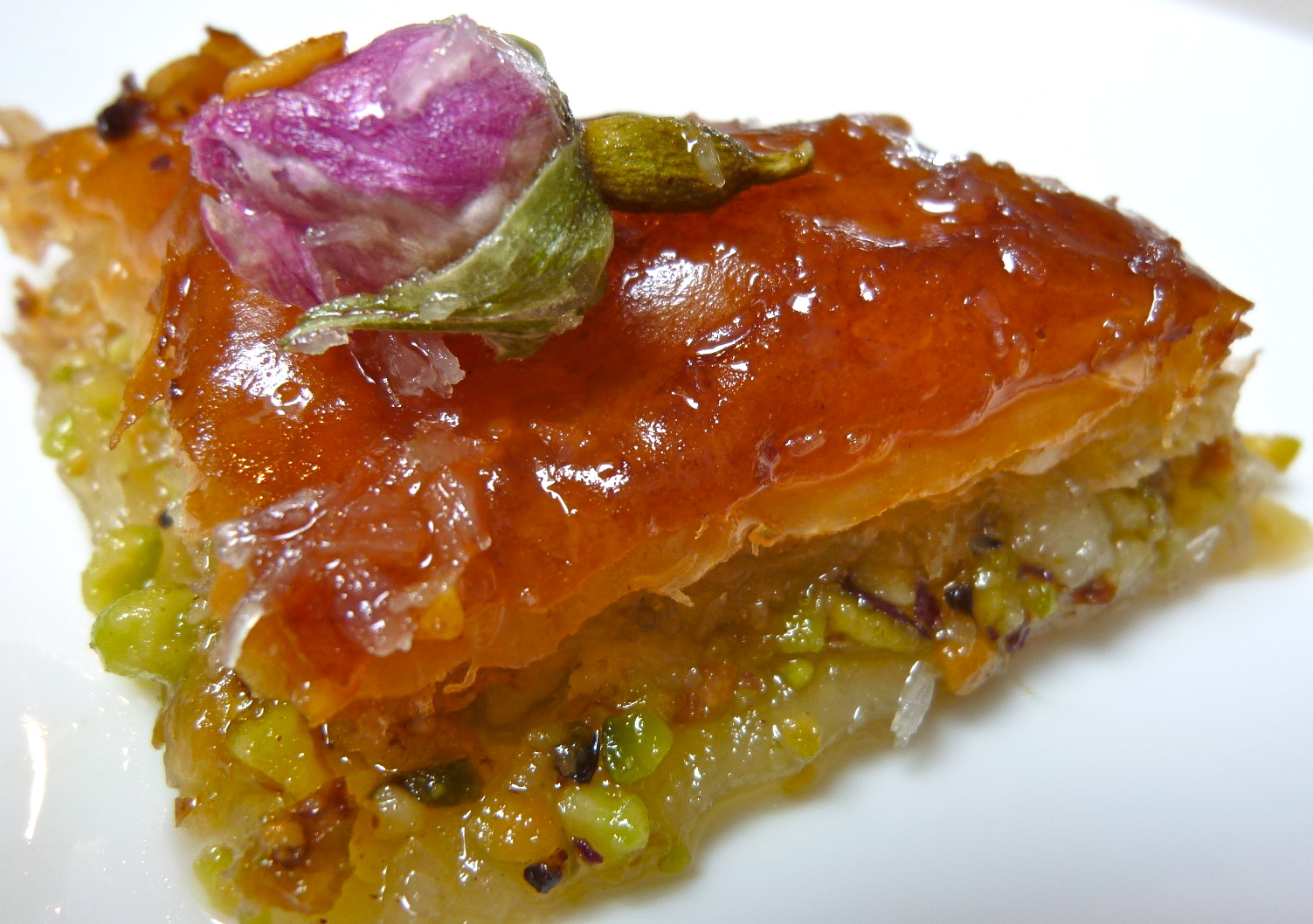 ... of a Mad Hausfrau: Agave Rose Baklava with Pistachio & Macadamia Nuts