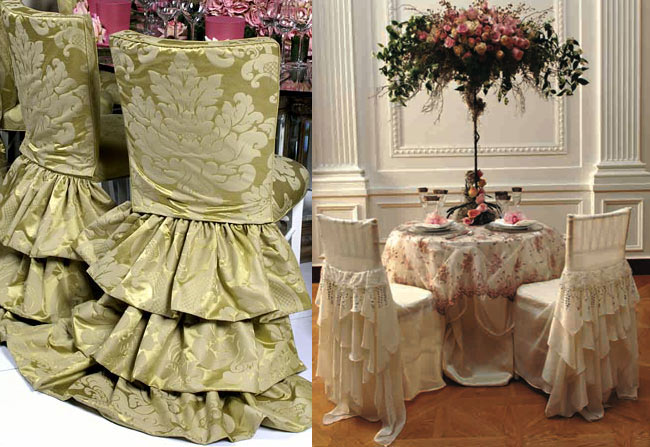 Chair cover ups for your wedding reception