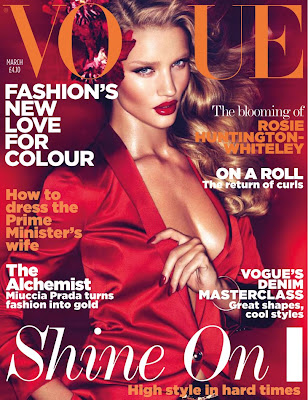 rosie huntington whiteley vogue cover. first ever Vogue cover.