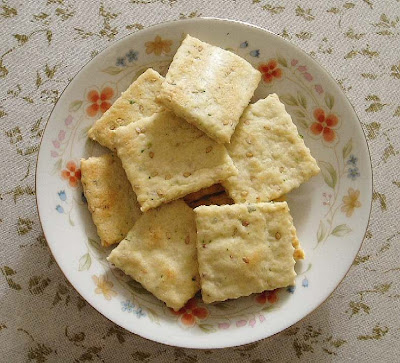 Recetas de Cocina: GALLETITAS DE PEREJIL Y SÉSAMO