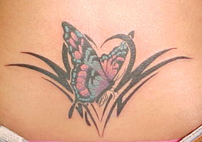 Beautiful Tribal Butterfly Tattoo Design 7