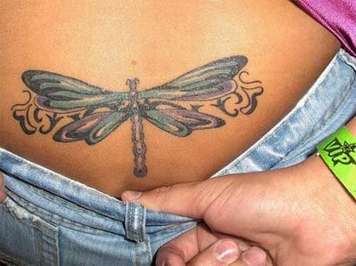 Lower Back Dragonfly Tattoo