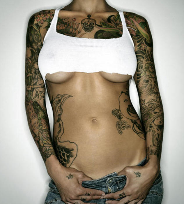 It is common to see smaller tattoos in women but I have found over the