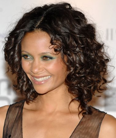 Curly Medium Hair Cut -