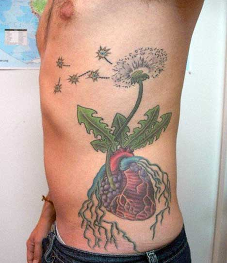 flower tattoo ribs