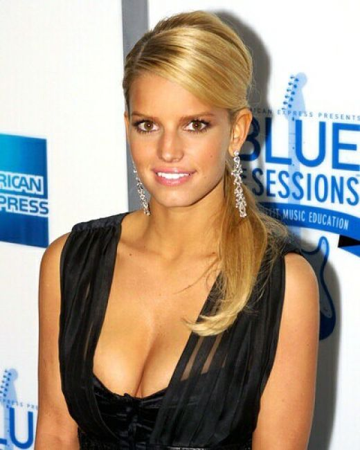 jessica ann simpson medium hairstyles celebrities