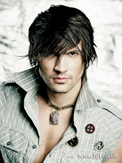 Men's fringe cut comes in variety of lengths so you can play with the look