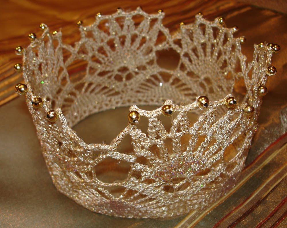 Ganchillo Pattern : Corona de princesa tejida a crochet ~ lodijoella