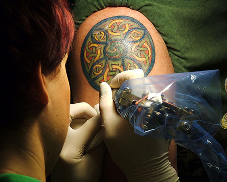 Most of Celtic tattoo designs are taken from the Irish Illuminated