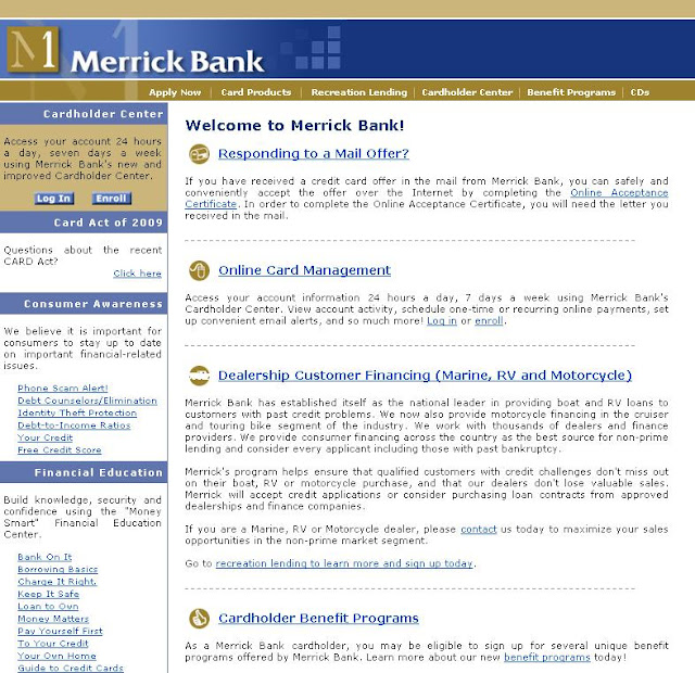 Merrick Bank - login to www.merrickbank.com CardHolder Center