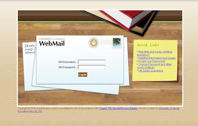 UH Webmail - Login to Mail.hawaii.edu - University of Hawaii WebMail