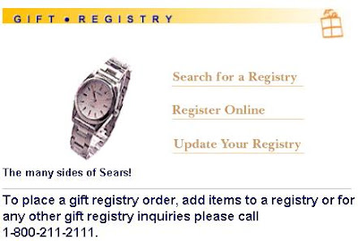 Items For Wedding Gift Registry : want to place a gift registry order at Sears, add items to a registry ...
