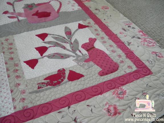 Piece N Quilt: Le Jardin Quilt - Custom Machine Quilting : le jardin quilt pattern - Adamdwight.com