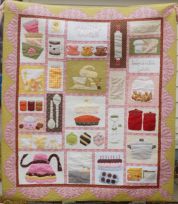 Kitchen Quilting Ideas : Piece N Quilt: Grandmas Kitchen {the quilt}