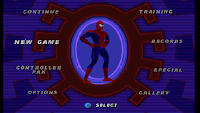 Spiderman Menu