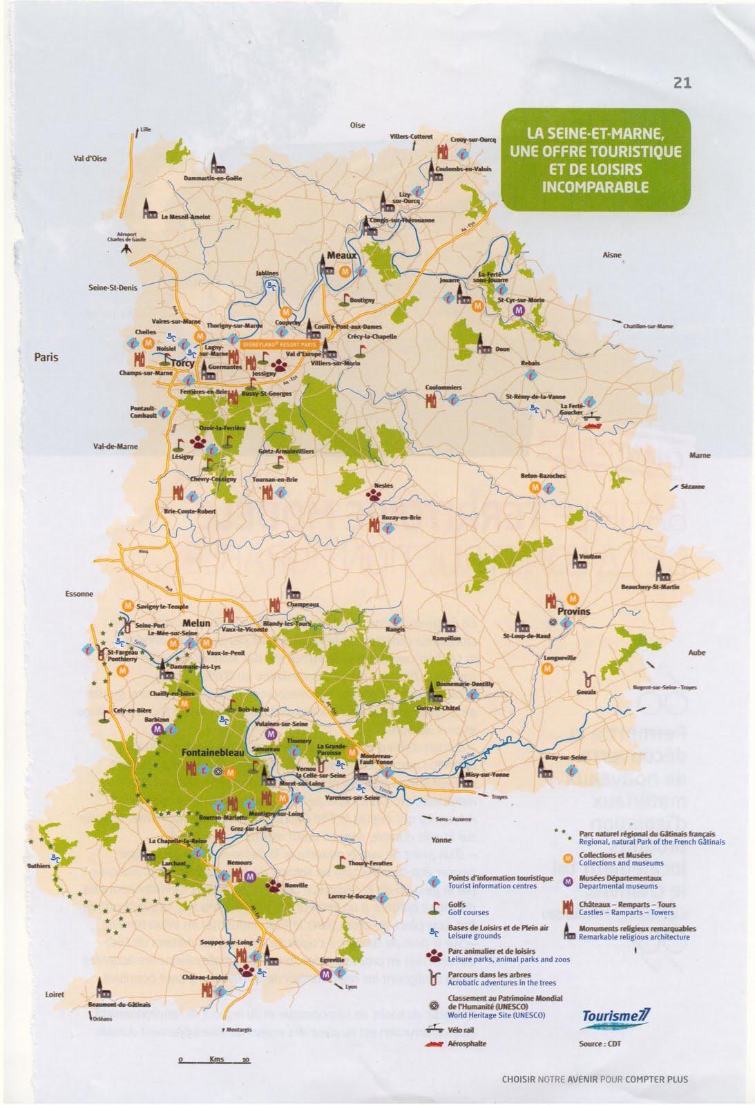Mes idees de sorties sympa carte touristique de la seine et marne - Office de tourisme sienne ...