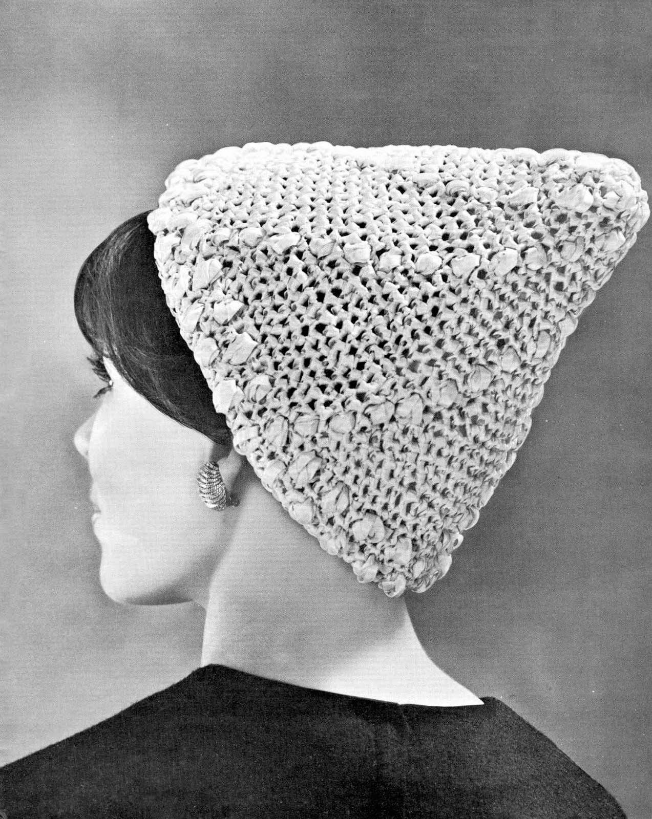 Knitting Pattern Books Hats : Very Vintage Knit & Crochet Patterns: High Fashion Hats ...