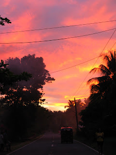 sunset in camiguin in the philippines
