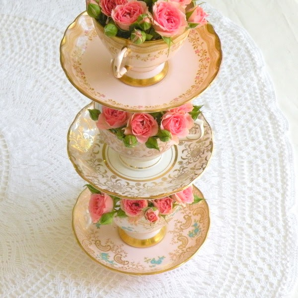 Making Cake Stands Vintage Plates