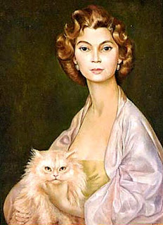portrait Leonor Fini et son chat
